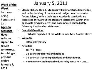 January 5, 2011