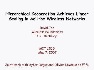 Hierarchical Cooperation Achieves Linear Scaling in Ad Hoc Wireless Networks