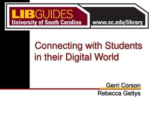Connecting with Students in their Digital World