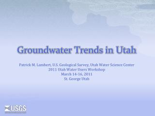 Groundwater Trends in Utah