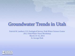 Groundwater Trends in Utah