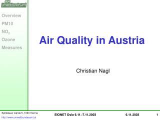 Air Quality in Austria