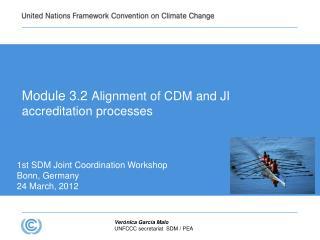 Module 3.2  Alignment of CDM and JI accreditation processes