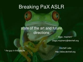 Breaking PaX ASLR