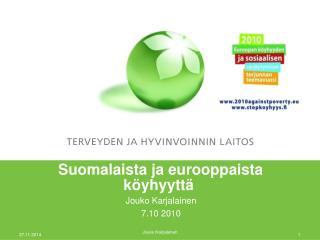 Suomalaista ja eurooppaista köyhyyttä