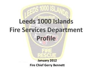 Leeds 1000 Islands  Fire Services Department Profile