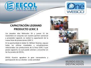 CAPACITACIÓN LEGRAND  PRODUCTO LEXIC 3