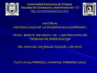 Universidad Autónoma de Chiapas  Facultad de Contaduría y Administración  C-I