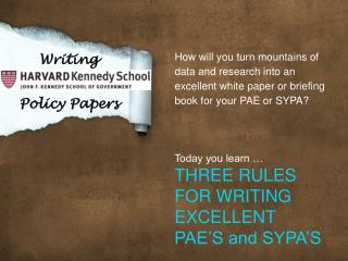 Writing   Policy Papers