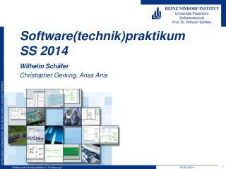 Software( technik ) praktikum SS  2014