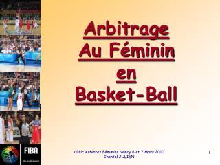 Arbitrage Au  Féminin  en Basket-Ball