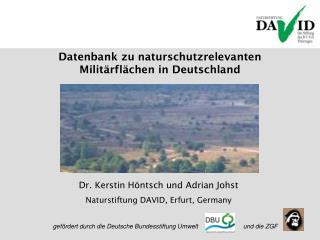 Datenbank zu naturschutzrelevanten Militärflächen in Deutschland