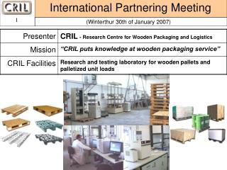 International Partnering Meeting