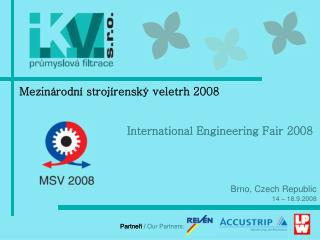 Partneři  / Our Partners: