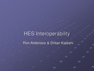 HES Interoperability