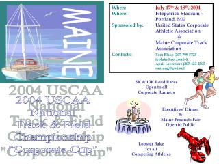 "2004 USCAA National Track & Field Championship ""Corporate Cup"""