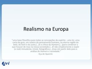 Realismo na Europa