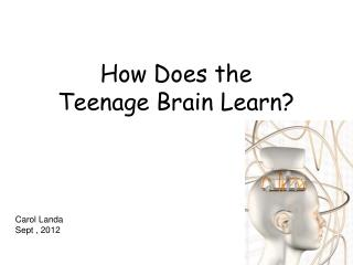 How Does the  Teenage Brain Learn?