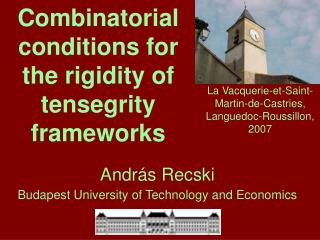 Combinatorial conditions for   the rigidity of tensegrity frameworks