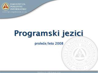 proleće/leto 2008