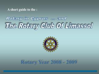 Rotary in Cyprus  ... and