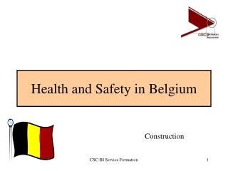 Health and Safety in Belgium