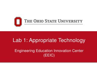 Lab 1: Appropriate Technology