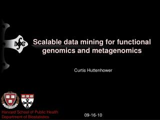 Scalable data mining for functional genomics and metagenomics