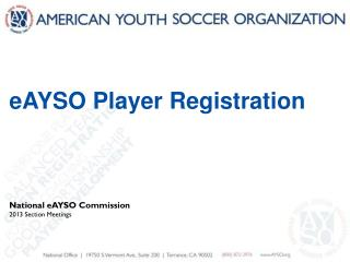 eAYSO Player Registration