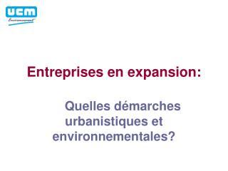 Entreprises en expansion: