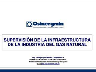 SUPERVISIÓN DE LA INFRAESTRUCTURA DE LA INDUSTRIA DEL GAS NATURAL