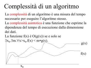 Complessità di un algoritmo
