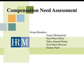 Compensation Need Assessment