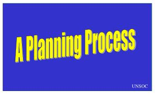 A Planning Process