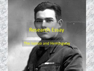 essays on ernest hemingway (essay by christine norvell) what was ernest hemingway illustrating about the emptiness of the generation in which he lived when he wrote a farewell to arms in 1929 if we unthinkingly pursue pleasure and live for nothing except ourselves, what are we left with.