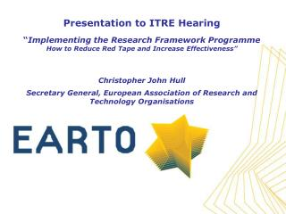 Brief Words about EARTO and RTOs