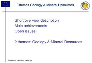 Themes Geology & Mineral Resources