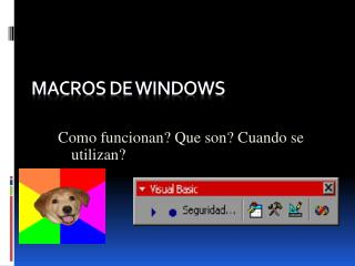 MACROS DE WINDOWS