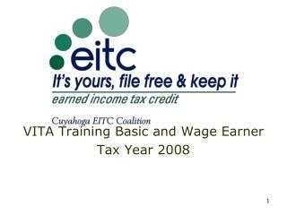 VITA Training Basic and Wage Earner Tax Year 2008