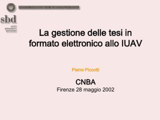 La gestione delle tesi in formato elettronico allo IUAV