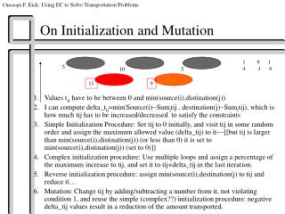 On Initialization and Mutation
