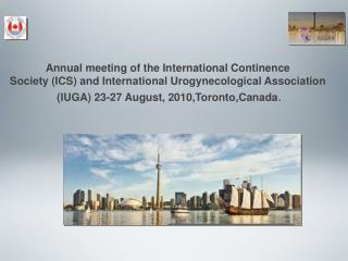 Annual meeting of the International Continence