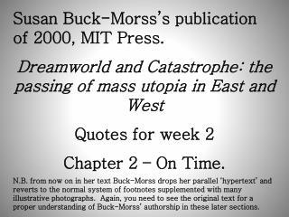 Susan Buck-Morss's publication of 2000, MIT Press.