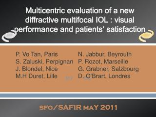 sfo /SAFIR  maY  2011