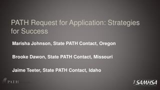PATH Request for Application: Strategies for Success