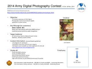 2014  Army Digital Photography  Contest  15 Oct- 30 Nov, 2014
