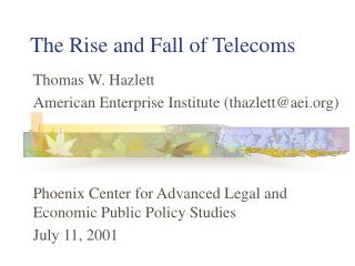 The Rise and Fall of Telecoms