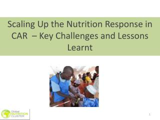 Scaling Up the Nutrition Response in CAR  – Key Challenges and Lessons Learnt