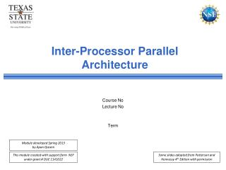 Inter-Processor Parallel Architecture