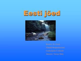 Eesti jõed